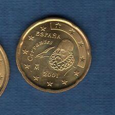 Espagne - 2001 - 20 centimes d'euro - Pièce neuve de rouleau -