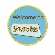 Welcome to Brownies Embroidered Girl Guiding Fun Badge