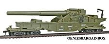 HO Scale US ARMY BIG GUN Train Car Model Power New in Box 99163