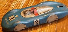Altes Spielzeugauto Blechspielzeug BILLER Rennwagen Nr. 2, 15cm, US-Zone, 1950er