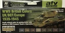 British WWII 1939 - 1945 Vallejo Model Air Paint Set 71614