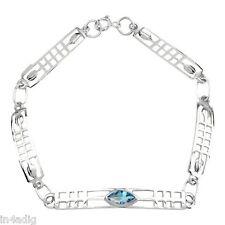 Charles Rennie Mackintosh Silver Bracelet with aquamarine stone