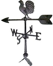 24-Inch Cast Aluminum Weathervane Rooster Ornament Garden Cupola Farm Decor New