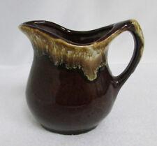 Brown Drip Glazed Creamer Maple Syrup Pitcher Vintage