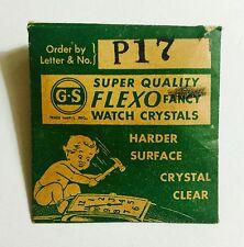 NOS GS P17 Flexo Fancy Watch Crystal Germanow Simon Mach. Company
