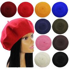 Uni béret chapeau Laine Français Bonnet Hiver automne femmes décontracté
