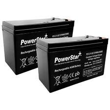 12V 9AH SLA Battery Replaces CP1290 6-DW-9 HR9-12 PS-1290F2 - 2PK