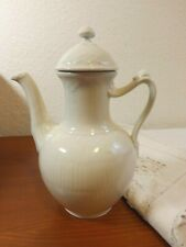 Royal Copenhagen Denmark White Half Lace Small Coffee Pot Snail On Handle