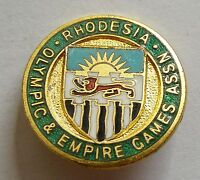 g384 1960's Olympics Games - North Rhodesia, Olympic & Empire Games NOC badge