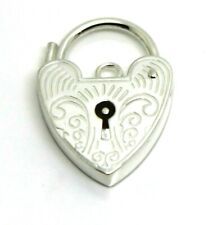15mm Sterling Silver Engraved Heart Padlock Locket Express Post in Oz