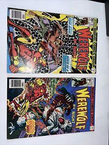 Werewolf by Night #42 - 43 Iron Man Marvel Comics 1st Series