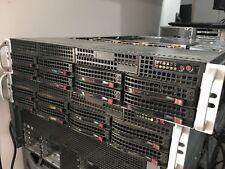 SuperMicro Rack Server 24GB ECC RAM 2x XEON E5620 2.4GHz CSE-825 X8DAH  8 CADDY