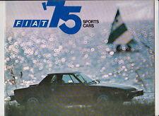 Three 1975 FIAT US Range Brochures 124 SPORT COUPE SPIDER X1/9 128 131