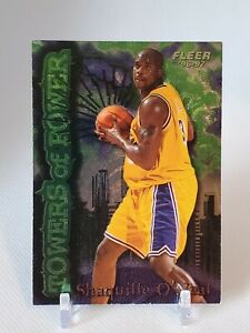 (010) SHAQUILLE O'NEAL 1996-97 FLEER TOWER OF POWER INSERT CARD #7!! LAKERS