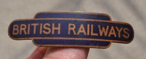 Vintage British Railways Blue Enamel Cap Badge J R Gaunt