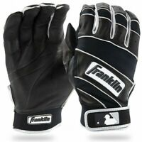 NEW Original Franklin Natural Adult  Baseball BATTING Gloves Black / White