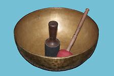 BUDDHA SHAKTI CARVING 41 CM HAND BEATEN TIBETAN MEDITATION SINGING BOWLS