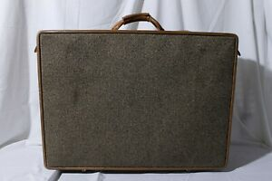 """Hartmann Luggage Large Tweed Canvas Suitcase Signature Style 19.5"""" x 26"""" x 8"""""""