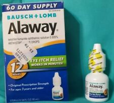 ALAWAY BAUSCH LOMB OPHTHALMIC ANTIHISTAMINE EYE DROP 12 HOUR ITCH RELIEF 3/19