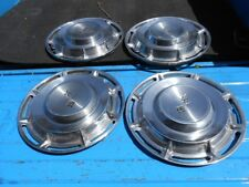 60 1960 Chevy Impala Belair Biscayne (4) full size 14 inch wheel covers orig GM