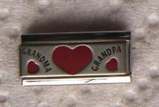 """LOVE BETWEEN GRANDMA & GRANDPA"" 9MM DOUBLE ITALIAN CHARM-GRANDPARENTS,"