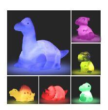 Dinosaur Bath Toys Light Up Floating Rubber (6 Pack) Flashing stocking stuffer