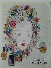 1945 Bourjois Courage evening in Paris Mais Oui perfume Xanti flower hat art ad