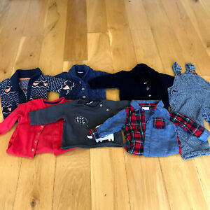 Bundle of 7 Boys 6-9months Clothes Knitted Cardigans Dungarees from Next George