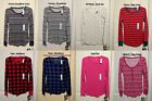 NWT Old Navy Womens Long Sleeve Thermal Waffle CrewNeck/ Henley Tee Top XS S M L