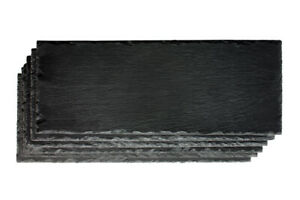 Platy Schieferplatten 15x40cm Set Imprägniert Servierplatte Untersetzer