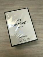 CHANEL No.5 pure parfum flacon 14ml/.45oz NIB VINTAGE SEALED