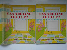 Can You Find the Pup? Louise Rowe, A Saalfield Animated Book, DJ, 1945