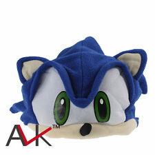 Cute Sonic the hedgehog shadow amy sonic Blue plush cap cosplay hat New