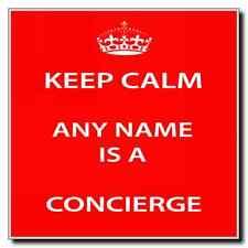 Concierge Personalised Keep Calm Coaster