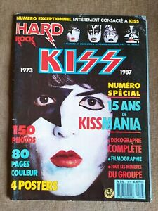 Revista Magazine KISS Hard Rock #39 Numero Special 1987 France Kissmania