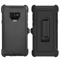 Black For Samsung Galaxy Note 9 Defender Case Cover w/ Belt Clip fits Otterbox