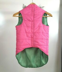Zack & Zoey Dog Vest Pink Quilted Faux Trim Hoodie Jacket XL