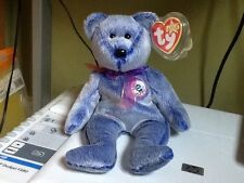 Ty E Bear beanie Periwinkle see my other beanies for comb postage rare 2000