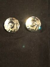 Swarovski Crystal Two 1987 Ball Paperweights Collectors Society Award