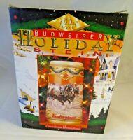 1996 Budweiser Holiday Series Stein American Homestead COA Box Anheuser NOS