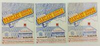 3 Vintage 1953 Original Pancake House Bickford's Breakfast Menus Peabody Mass