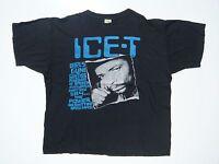 Vintage Original T-Shirt XL Ice-T Power Rhyme Pays 1991 Euro Tee Shirt Rare