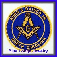 Born /& Raised in Louisiana Masonic Patch for Master Masons