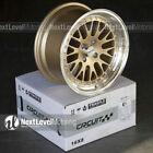 Circuit CP21 16x8 4-100 +25 Gold Wheels Fits Mazda Miata NA NB MX5 BMW E30 Mesh