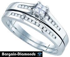 diamond .30 carat bridal 10K gold engagement wedding ring set bargaindiamond