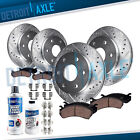 Front & Rear Drilled Rotors + Brake Pads for Chevy Suburban Silverado 1500 Tahoe