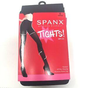 "Spanx Size C (Medium) = 4'11/ 6'0"" Charcoal Luxe Leg 60 Denier Tights NEW"