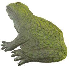 Decorative Sitting Green Frog Stepping Stone Cast Iron Yard Garden Outdoor Decor