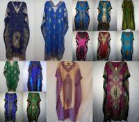 Womens African Caftan Dress Kaftan dashiki Hippie Boho Casual Gown beach coverup