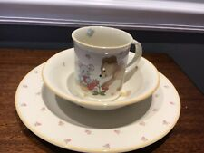 New listing Mikasa Teddy Bear Cc018 Malaysia 3 Piece Plate Bowl Cup Children Set Mouse Berry